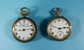 Sphinx Major Silver Open Faced Pocket Watch with White Porcelain Dial + a Liga Superior Timekeeper