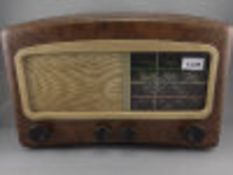 Early/Mid 20thC Radio, Walnut Effect Bakelite Case Marked For Cossor Melody Maker Model 501AC,