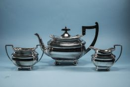 Walker and Hall A1 Silver Plated 3 Piece Tea Service, Warranted to be Silver Soldered. c.1905-1910.