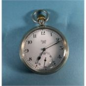 Limit NO 2 Silver Open Faced Pocket Watch, white porcelain dial, Fully hallmarked.