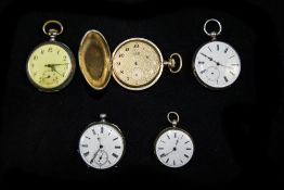 Swedish Antique Silver Open Face Pocket Watches (4) in total.