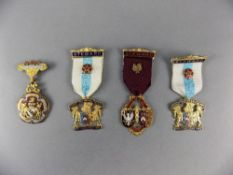 Masonic Stewards Enamel Jewels (4) in total. Various lodges.