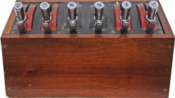 Miniature Signal Box Lever Frame with six Levers.