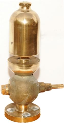 Brass Locomotive Whistle ex King Arthur Class Locomotive. The valve is stamped BR(S) along with