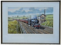 """Original Painting - """"6139 The Welsh Regiment at Thrimby Grange"""" by Gerald Broom - oil on board."""