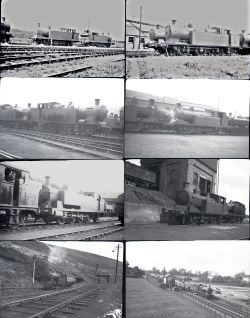 Negatives, approximately 170 medium format in two small wallets. Mostly ex GWR and LMS but there are
