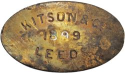 Worksplate Kitson & Co 1899 Leeds. In 1899 Kitson built locos for both the home and overseas