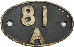 Shedplate 81A, Old Oak Common until May 1973. Totally ex loco condition