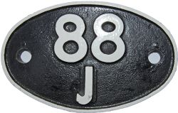 Shedplate 88J, Aberdare from January 1961 until March 1965. Restored but correct casting pattern and