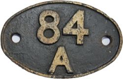 Shedplate 84A, Wolverhampton Stafford Road until September 1963 then Laira until May 1973. Totally