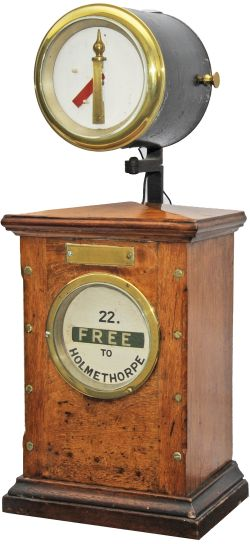 Sykes Lock & Block Signal Box Instrument '22 FREE TO HOLMETHORPE'. Complete with top indicator