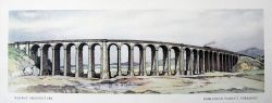 Carriage Print Ribblehead Viaduct, Yorkshire by Kenneth Steel from the LMR Railway Architecture