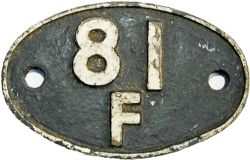 Shedplate 81F, Oxford until October 1974. Totally ex loco condition