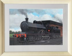 Original watercolour & gouache Painting by Vic Welch of L&NWR Precursor Class No 366 MEDUSA.