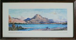 Carriage Print 'Ben Slioch & Loch Maree, Wester Ross' by W Douglas Macleod from the Scottish