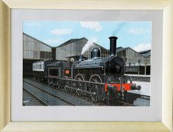 Original watercolour & gouache Painting by Vic Welch of L&NWR of Ramsbottom DX Class as rebuilt by
