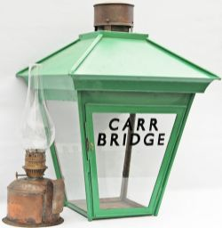 Highland Railway Platform Lamp CARR BRIDGE. Situated between Inverness and Aviemore, the station