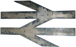 British Rail alloy Double Arrow Logo ex Class 86 Electric Locomotive 86322. Measures 30 inches, ex