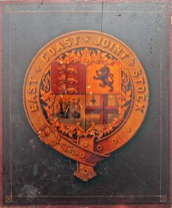 Railway Coat of Arms East Coast Joint Stock. Original quite possibly from an original carriage.