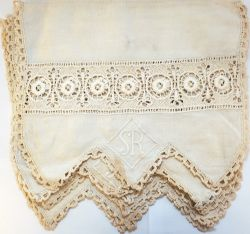 Southern Railway Antimacassars, qty 8 . All are identical, approx 14 x 12 inches in crochet linen