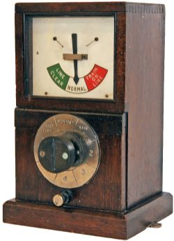 GWR 1947 mahogany cased single line Sending Instrument. In excellent condition.