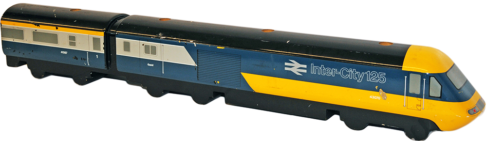 Inter City 125 HST wooden Model of 43070 as used in Travel Agent Offices. Measures 43 inches long
