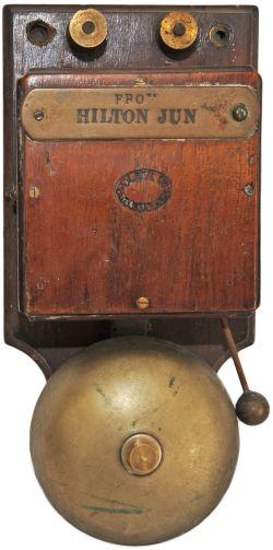 Caledonian Railway Telegraph Department Signalbox Repeater Bell. Stamped 'Cal Rail Co Telegraph
