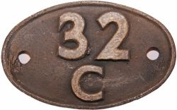 Shedplate 32C Lowestoft Central until July 1962. In ex loco condition.
