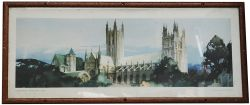 Carriage Print Canterbury Cathedral, Kent by Claude Buckle from the Southern Region A Series