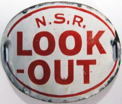 NSR oval enamel 'Look Out Armband'. In excellent condition. Rare