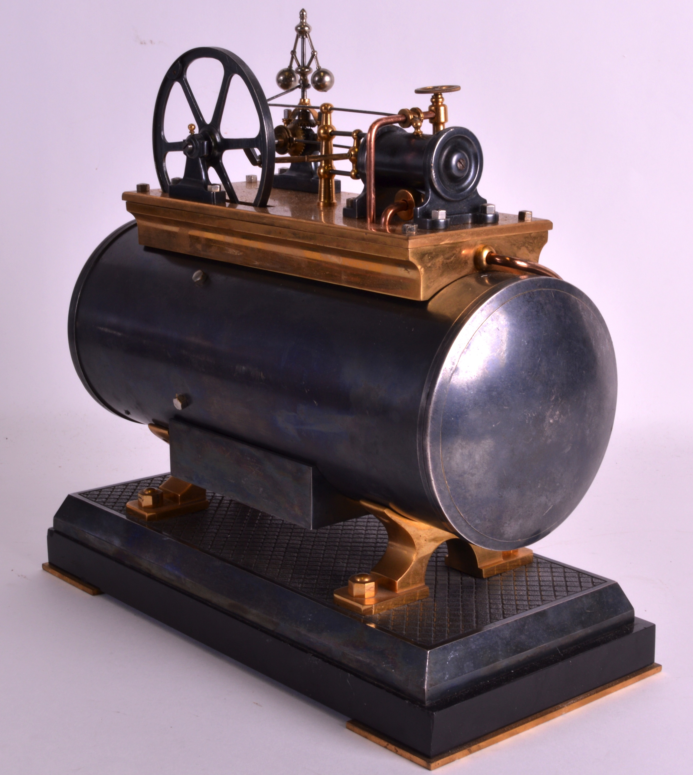 A FINE 19TH CENTURY FRENCH INDUSTRIAL BOILER ENGINE CLOCK C1880 with Roman chapters and blued - Image 7 of 7