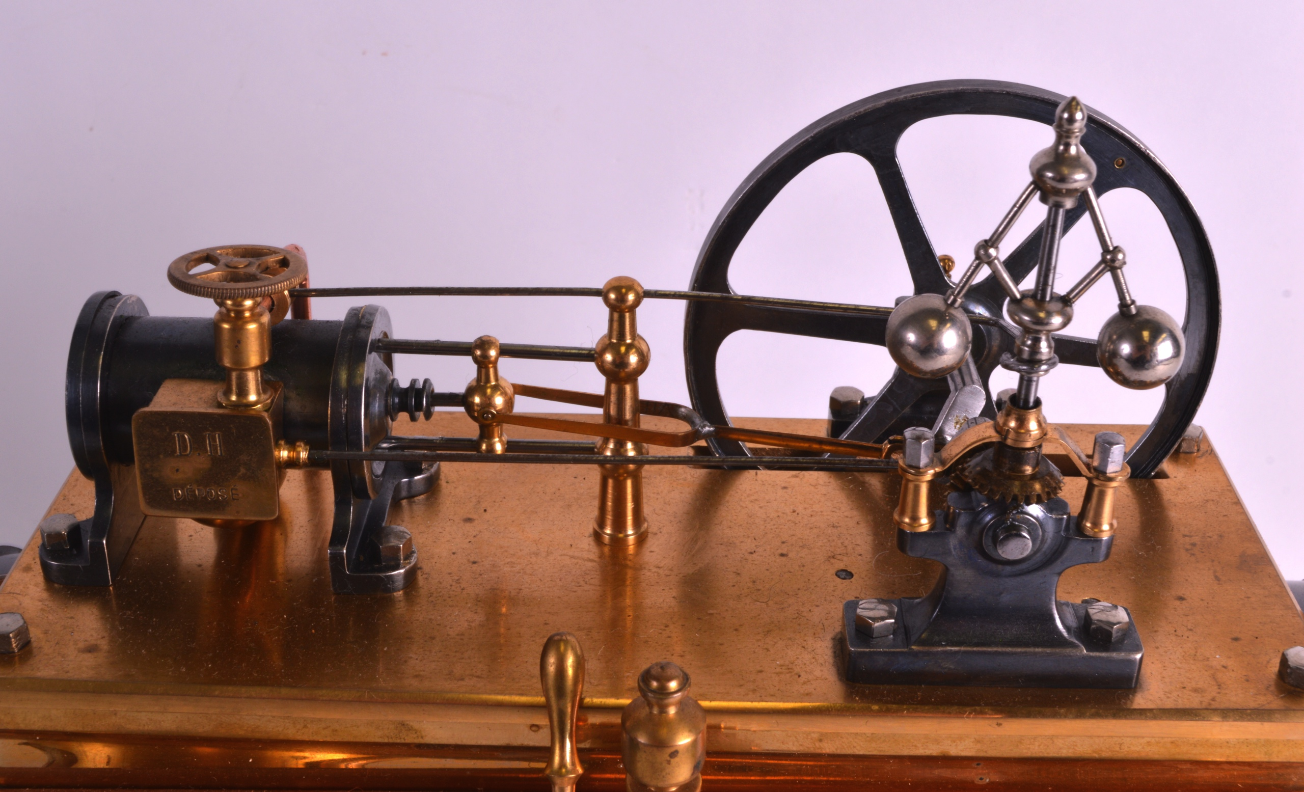 A FINE 19TH CENTURY FRENCH INDUSTRIAL BOILER ENGINE CLOCK C1880 with Roman chapters and blued - Image 5 of 7