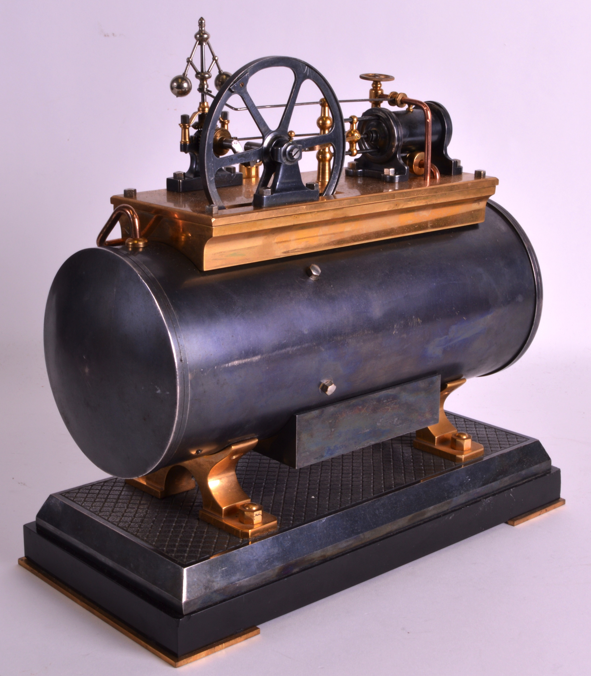 A FINE 19TH CENTURY FRENCH INDUSTRIAL BOILER ENGINE CLOCK C1880 with Roman chapters and blued - Image 4 of 7