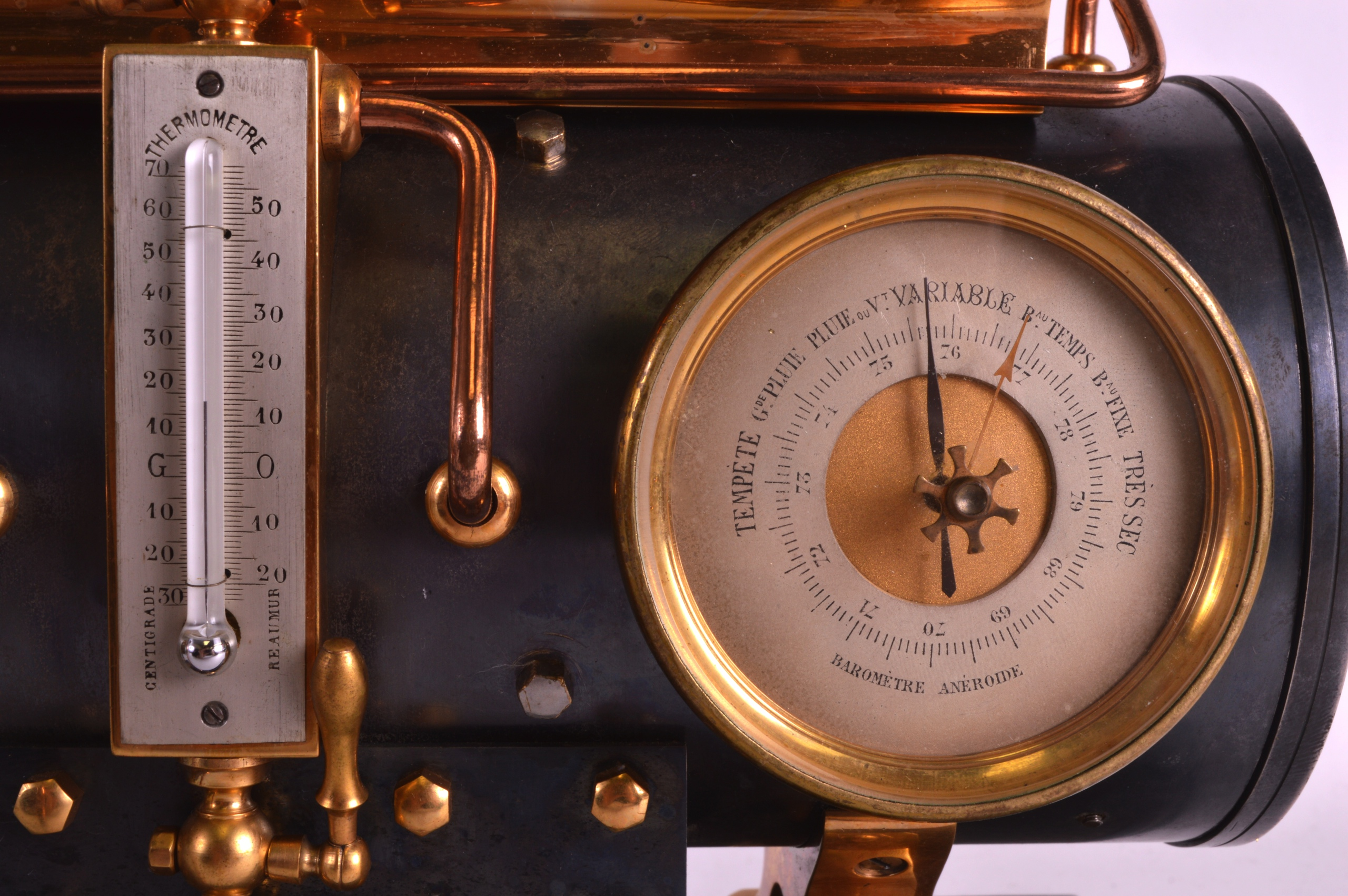A FINE 19TH CENTURY FRENCH INDUSTRIAL BOILER ENGINE CLOCK C1880 with Roman chapters and blued - Image 3 of 7