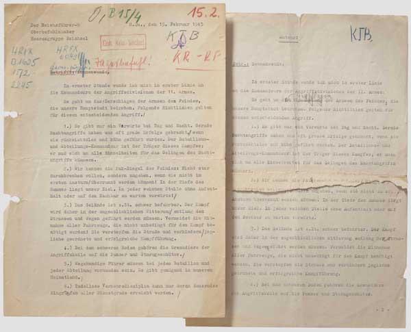 """Heinrich Himmler - Tagesbefehl 15.2.1945 """"Unternehmen Sonnenwende"""" Tagesbefehl """"Sonnenwende"""" des"""