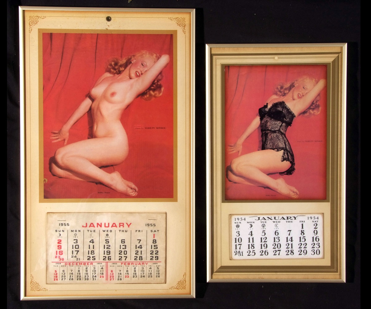 Two Marilyn Monroe Quot Golden Dreams Quot Reproduction Pin Up