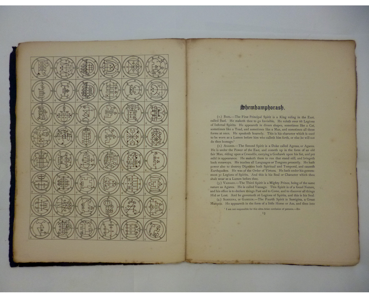 ALEISTER CROWLEY: 2 ttls: THE SWORD OF SONG CALLED BY CHRISTIANS THE BOOK OF THE BEAST, Benares, - Image 11 of 14