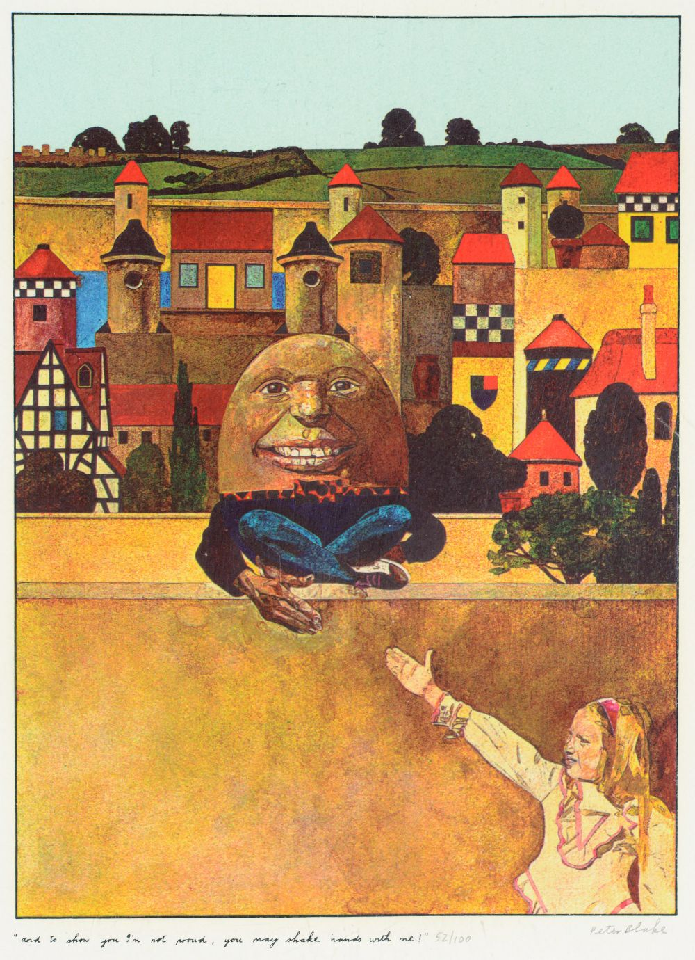 •SIR PETER BLAKE, CBE, RA (b.1932) ILLUSTRATIONS TO `ALICE THROUGH THE LOOKING GLASS AND WHAT - Image 5 of 8