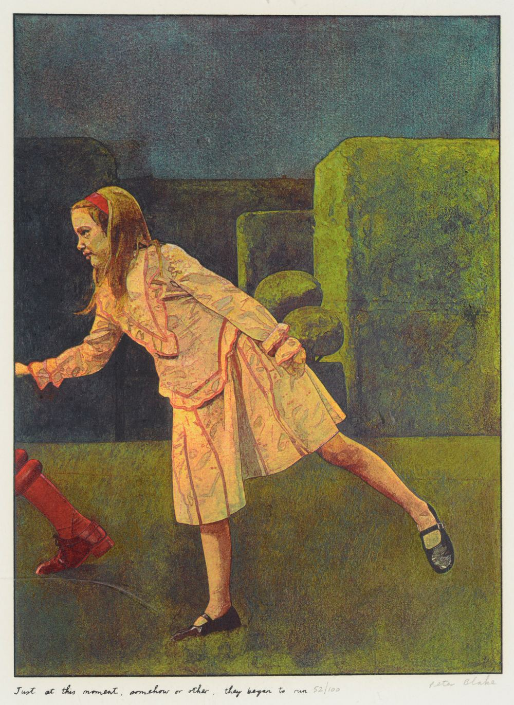 •SIR PETER BLAKE, CBE, RA (b.1932) ILLUSTRATIONS TO `ALICE THROUGH THE LOOKING GLASS AND WHAT - Image 2 of 8