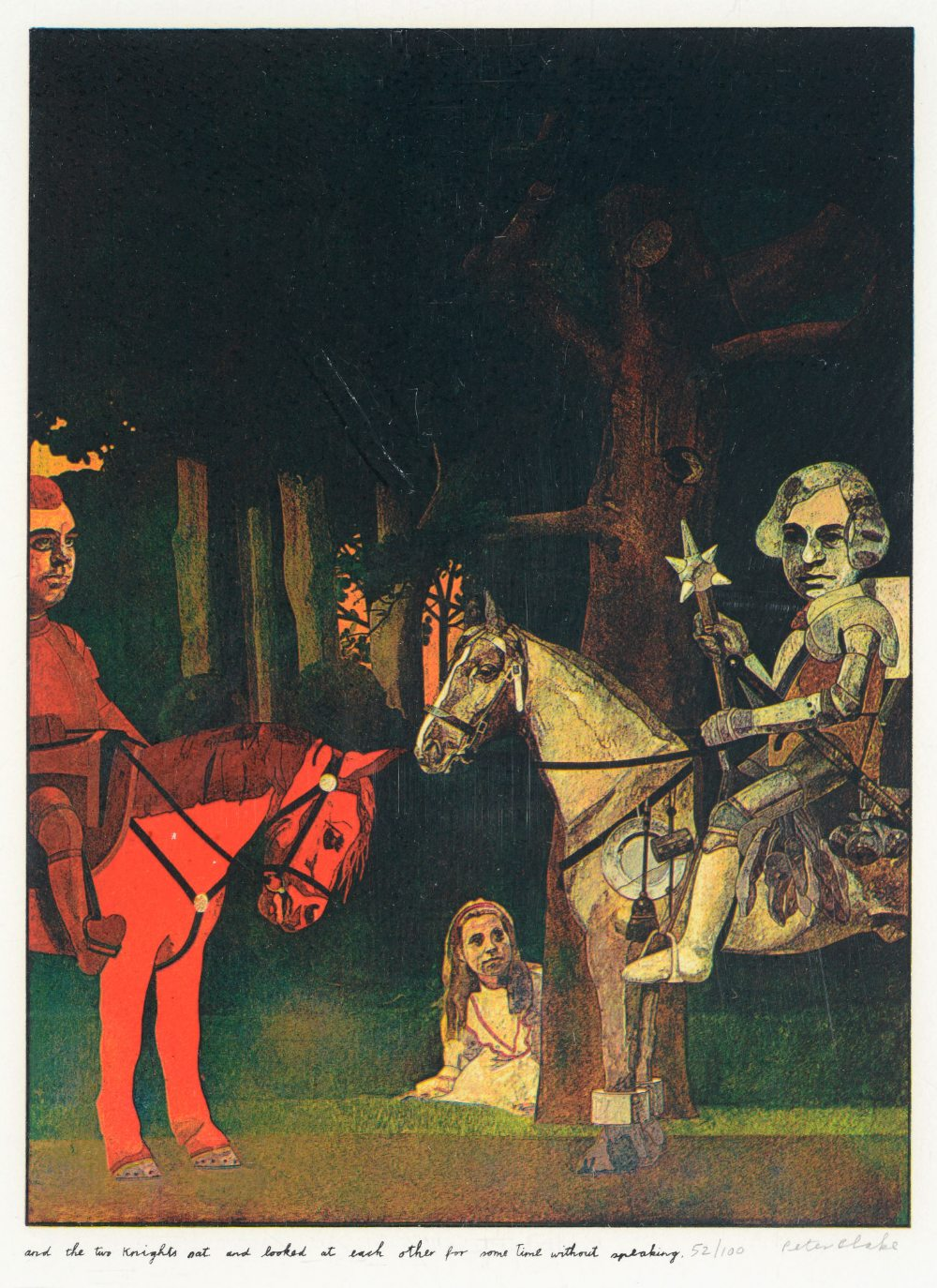 •SIR PETER BLAKE, CBE, RA (b.1932) ILLUSTRATIONS TO `ALICE THROUGH THE LOOKING GLASS AND WHAT - Image 4 of 8