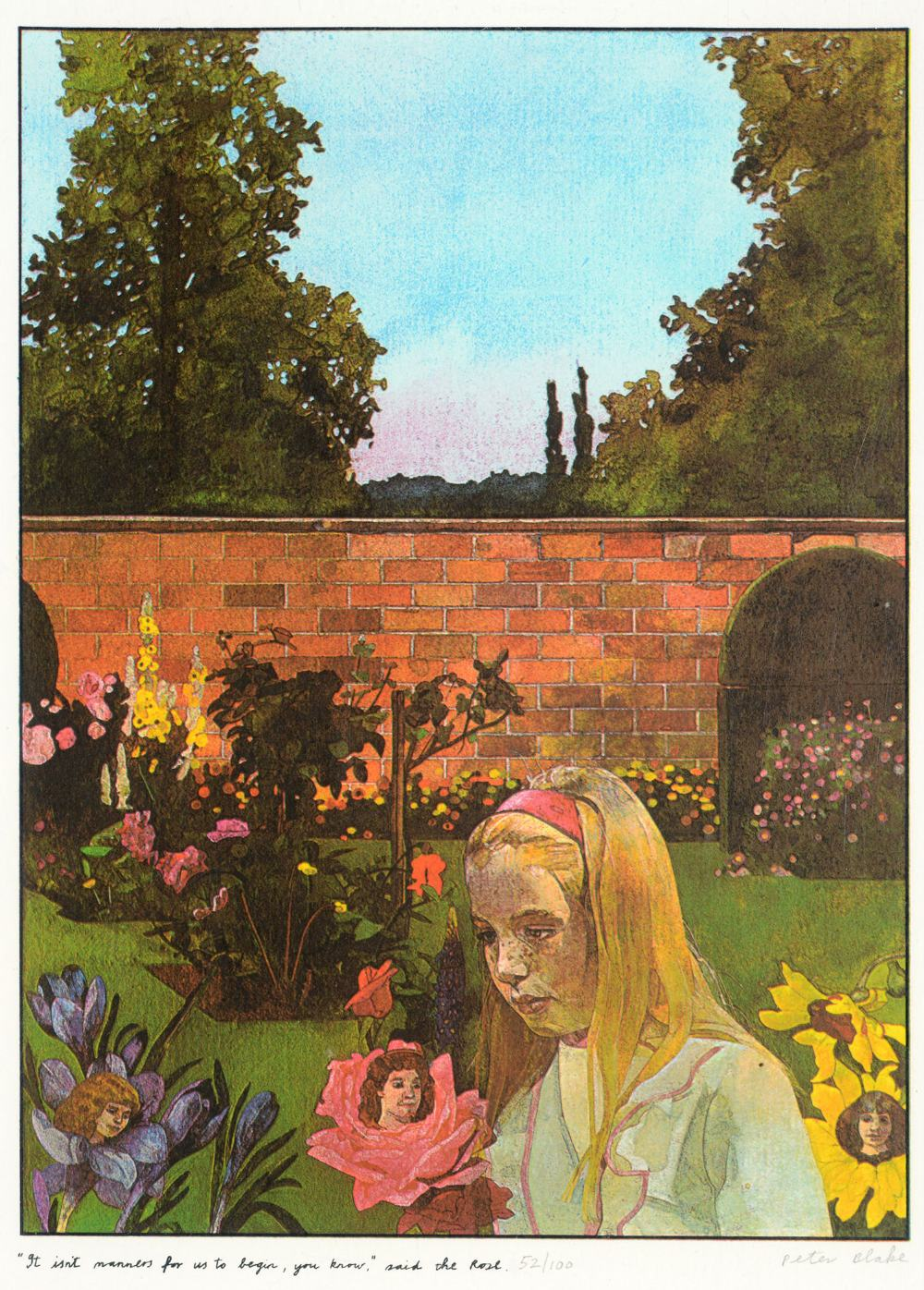 •SIR PETER BLAKE, CBE, RA (b.1932) ILLUSTRATIONS TO `ALICE THROUGH THE LOOKING GLASS AND WHAT - Image 8 of 8