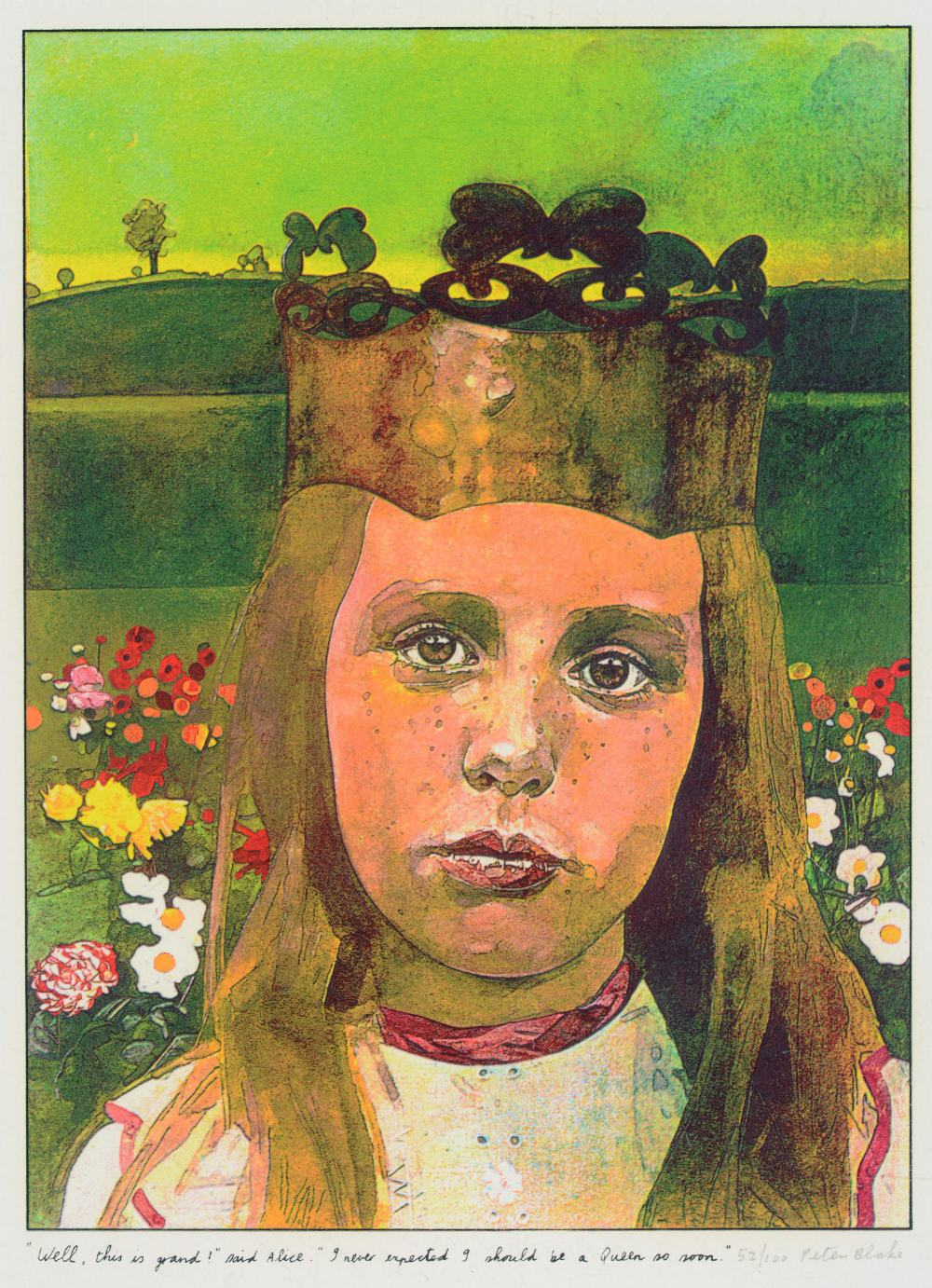 •SIR PETER BLAKE, CBE, RA (b.1932) ILLUSTRATIONS TO `ALICE THROUGH THE LOOKING GLASS AND WHAT - Image 3 of 8