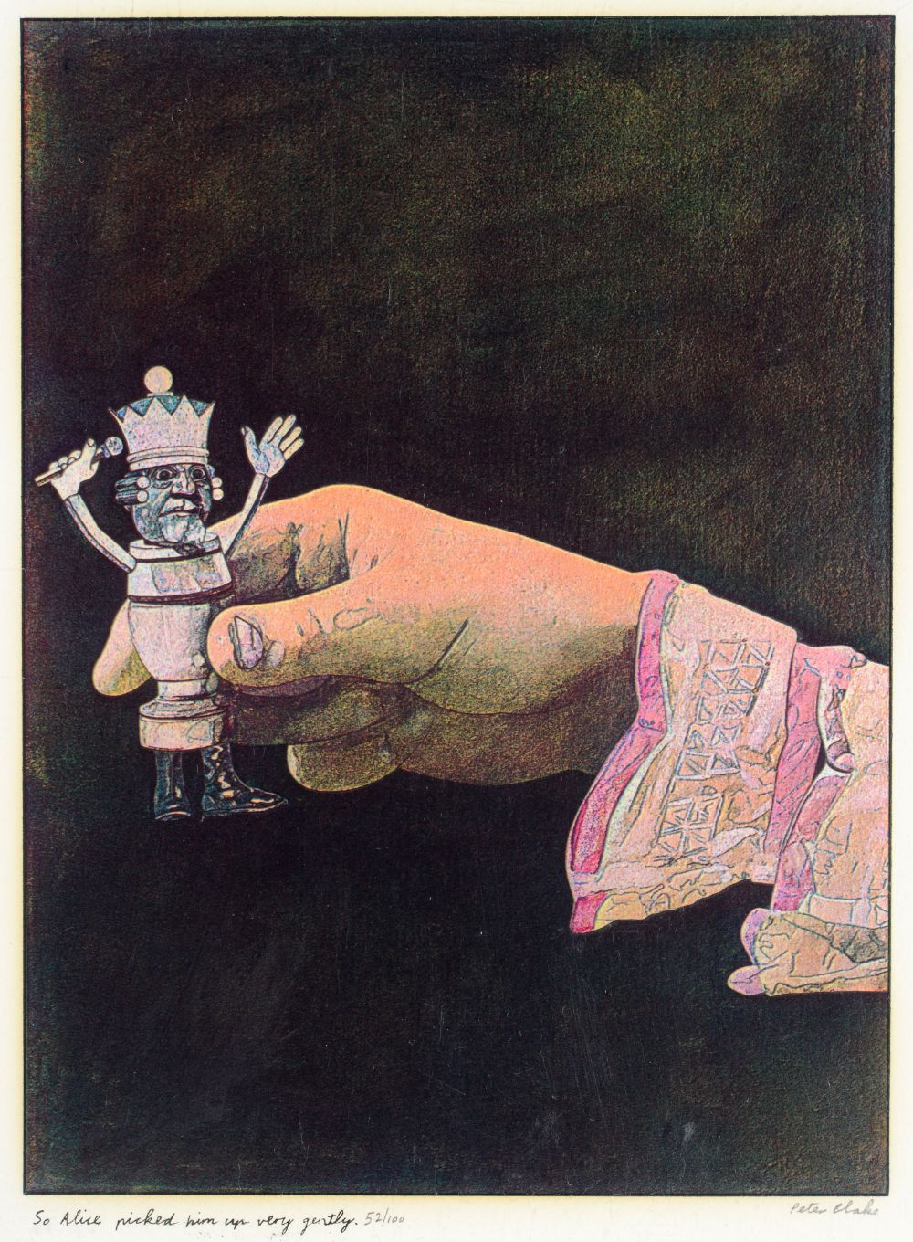 •SIR PETER BLAKE, CBE, RA (b.1932) ILLUSTRATIONS TO `ALICE THROUGH THE LOOKING GLASS AND WHAT - Image 7 of 8