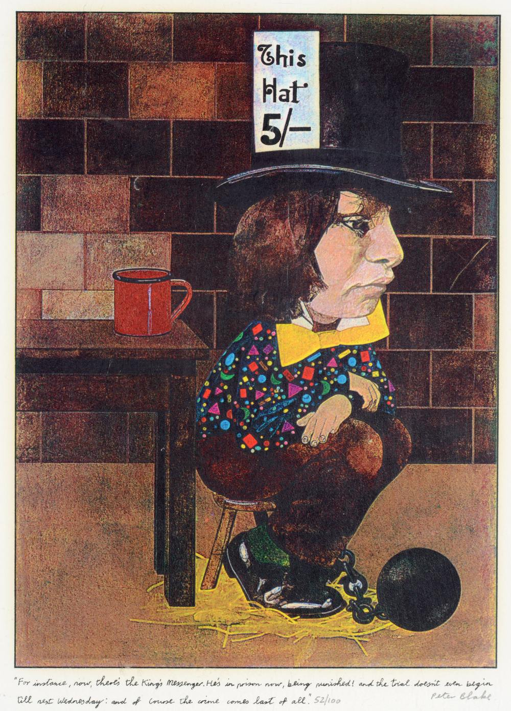 •SIR PETER BLAKE, CBE, RA (b.1932) ILLUSTRATIONS TO `ALICE THROUGH THE LOOKING GLASS AND WHAT - Image 6 of 8
