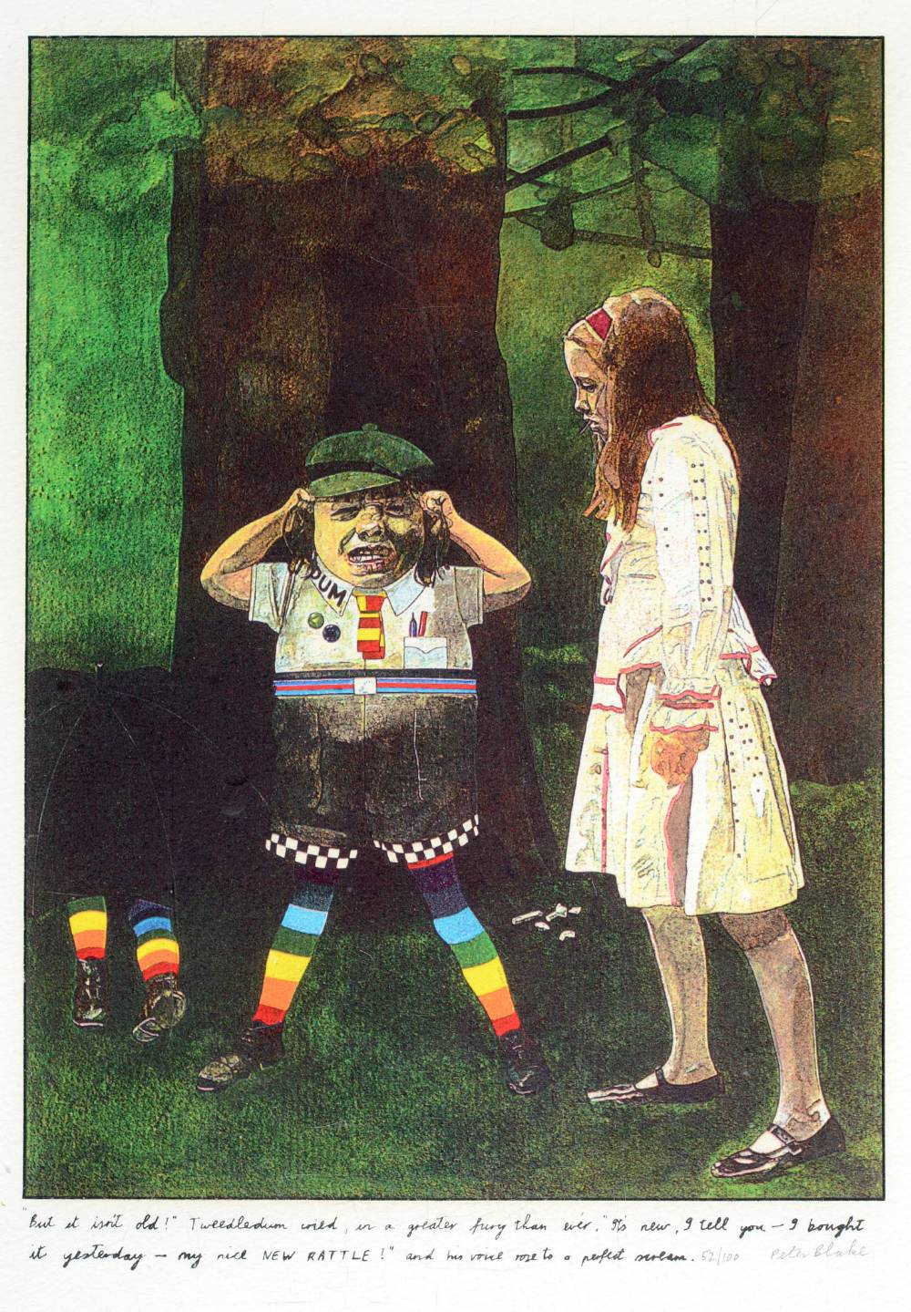 •SIR PETER BLAKE, CBE, RA (b.1932) ILLUSTRATIONS TO `ALICE THROUGH THE LOOKING GLASS AND WHAT