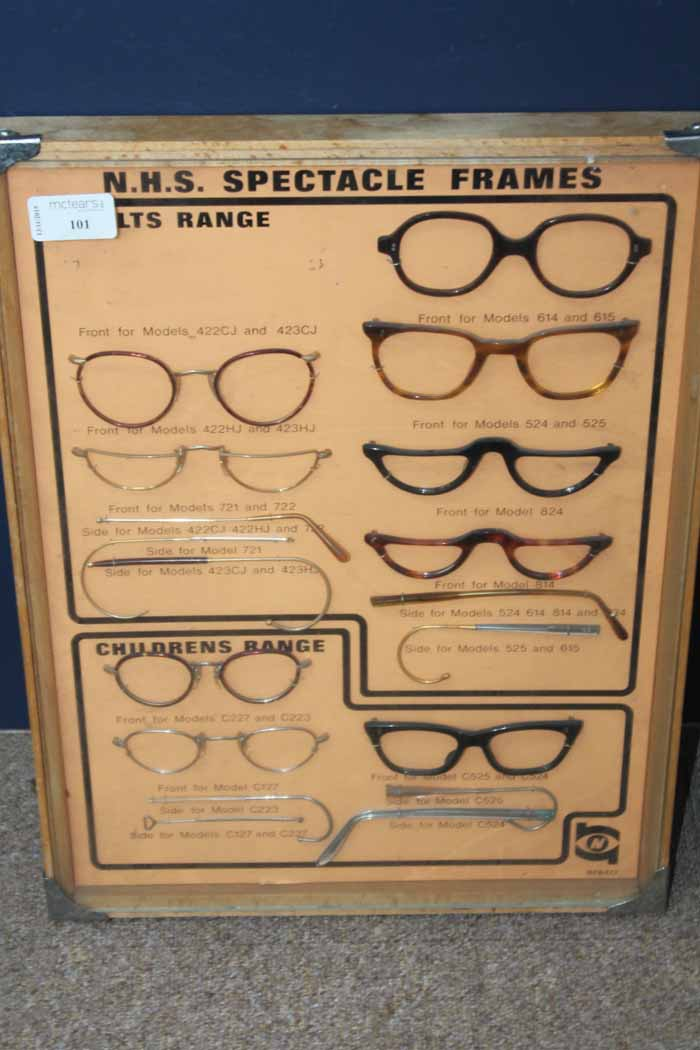 43c0243ce2 Lot 101 - UNUSUAL VINTAGE NHS SPECTACLE FRAMES DISPLAY SELECTION Adult and  Childrens ranges