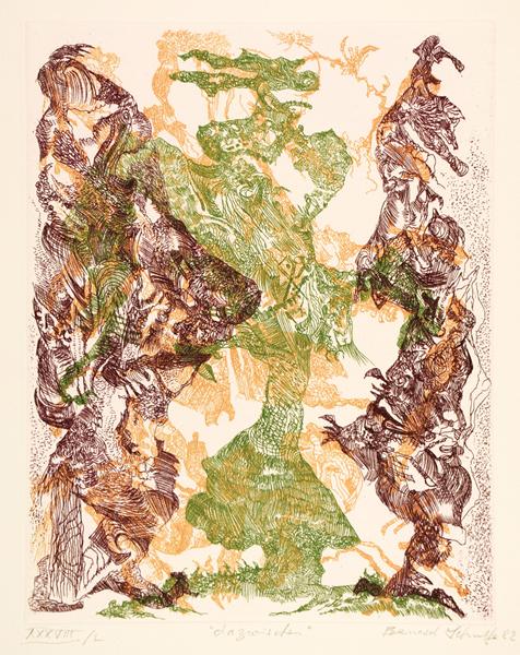 Hommage à Gustav Stein. Sammler - Förderer - Freund. Mappe mit einem Doppelbogen Titelblatt und