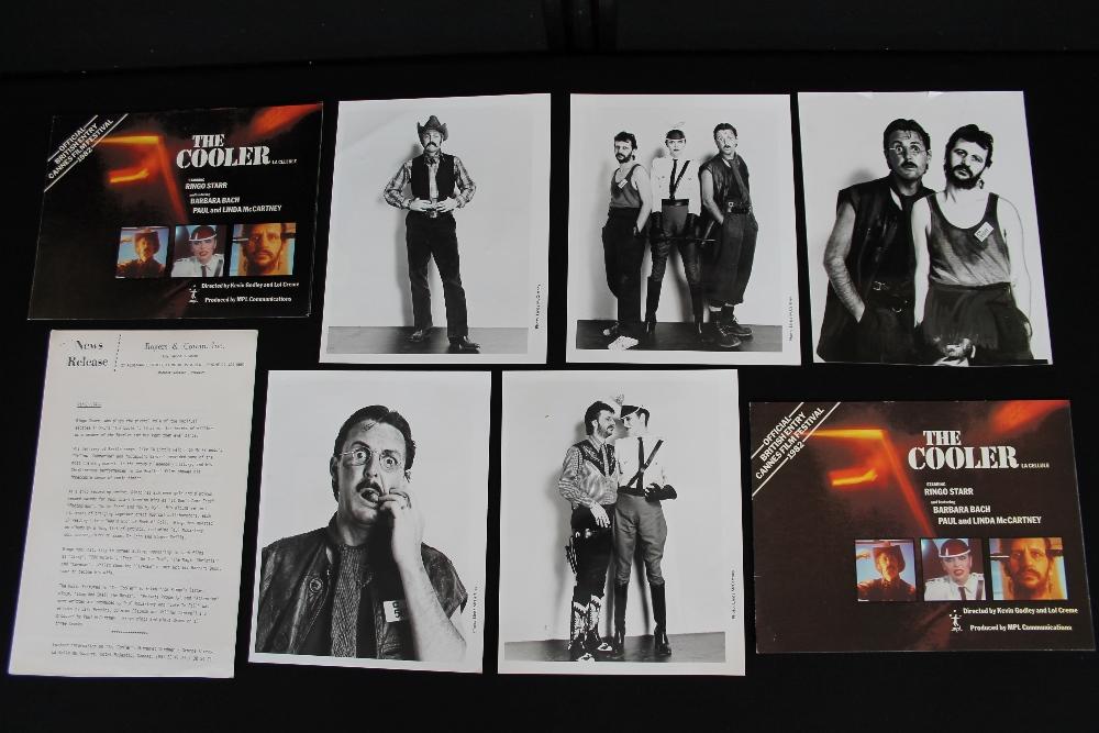 "PAUL MCCARTNEY & RINGO STARR - interesting collection of memorabilia relating to ""The Cooler"" film"