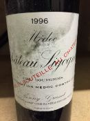 Chateau Sigognac, Medoc, 1996 Seven bottles.  (7) CONDITION REPORTS: Generally in good condition,