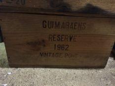 Fonseca Guimaerens Vintage Port, 1962 Reserve Twelve bottles in old wooden case.  (12) CONDITION